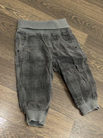 Штаны брюки джинсы вельвет H&M идеальное состояние 6-9 мес 74 см рост