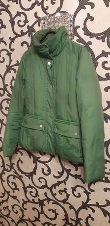 Пуховик Tommy Hilfiger p.M куртка зеленая