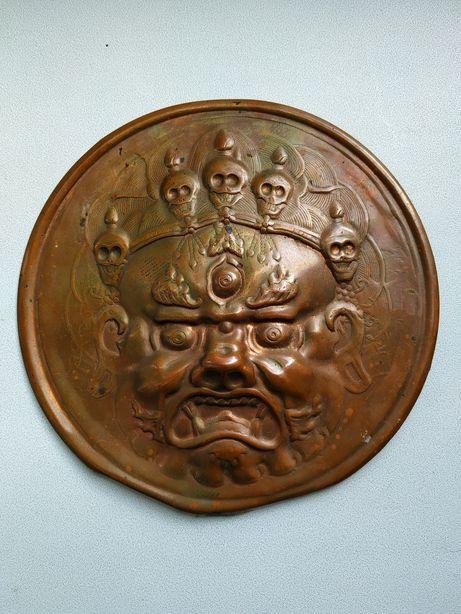 Маска монгольская медная