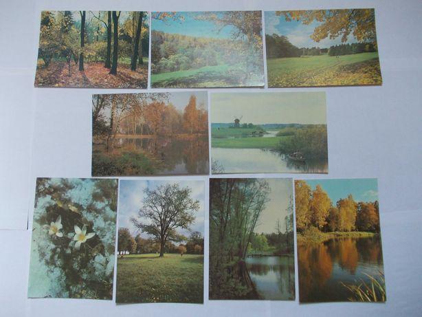 Почтовая открытка СССР – 14 шт. Коллекция «Осень»