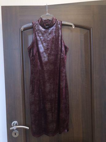 Sukienka aksamit bordo 36