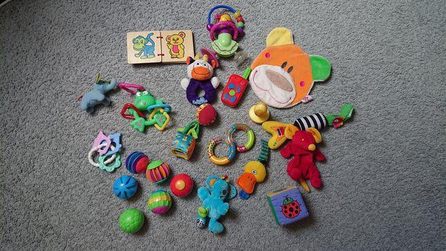 Zabawki dla maluszka 20 sztuk, miekkie lub na przylepiec