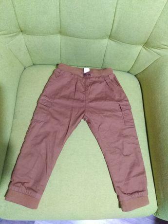 Spodnie r98 H&M bojówki guma ściągacz podszewka  jesienne