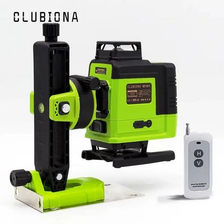 Clubiona IE16R 4D Обновленная Лазерний уровень рівень с ПУЛЬТОМ