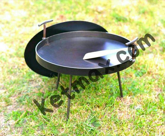 Сковорода из диска с крышкой 400 мм в диаметре,гриль,садж,мангал