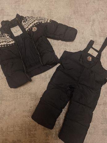 Moncler оригинал зимний костюм детский на 2/3 года