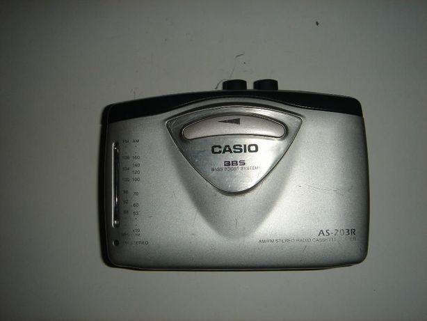 Продам кассетный плеер CASIO AS-203R с приёмником
