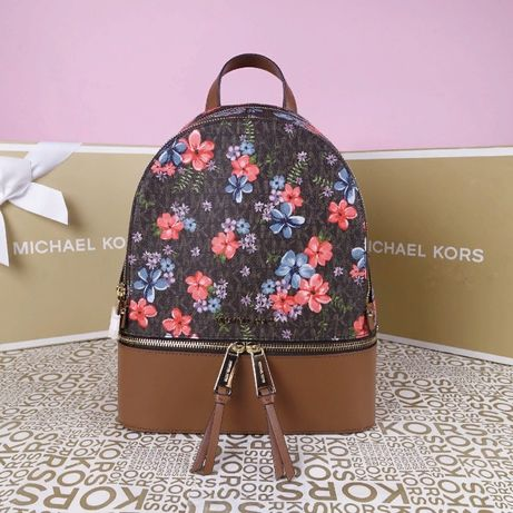 Кожаный рюкзак Michael Kors brown медиум оригинал Майкл Корс