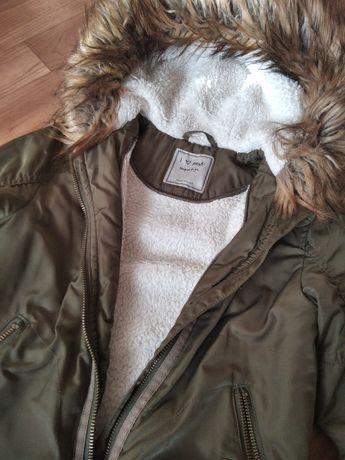Куртка, курточка демисезонная, цвет хаки, удлиненная, на 4-5 лет