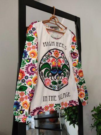 Śliczna bluza od Koko Swag folk design print M 38