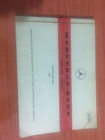 Catalogo peças Mercedes 190E e 190D