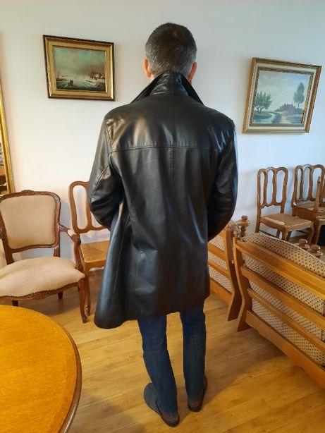 IDEALNY NA WIOSNE kurtka płaszcz skórzany