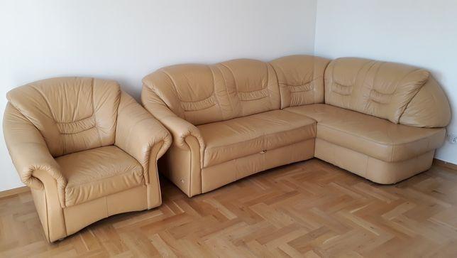 Naroznik skorzany fotel skora sofa skorzana kanapa ze skory rogowka