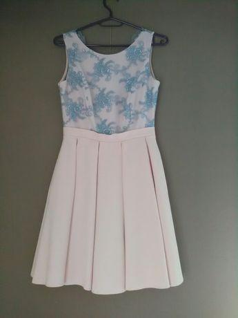 Śliczna sukienka na wesele r. XS