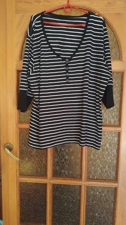 Koszulka damska z białymi poziomymi paskami
