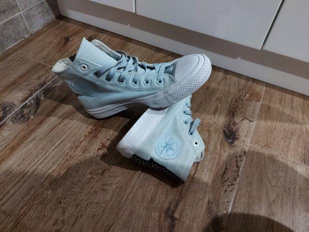 Trampki błękitne converse 38