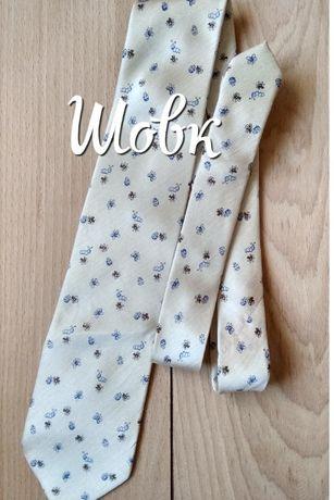 Краватка з шовку з мультяшними комашками\шелковой галстук