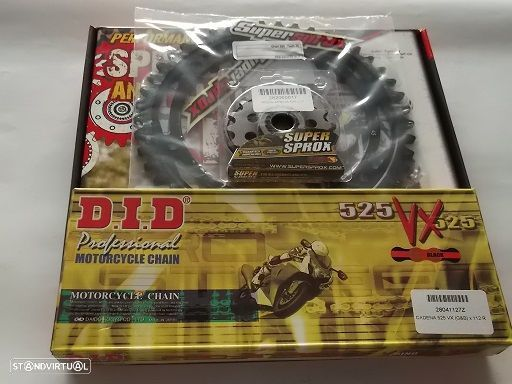Kit Transmissao Corr. DID X-ring dourada Aprilia ETV 1000 Caponord