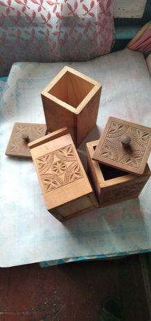Деревянные баночки