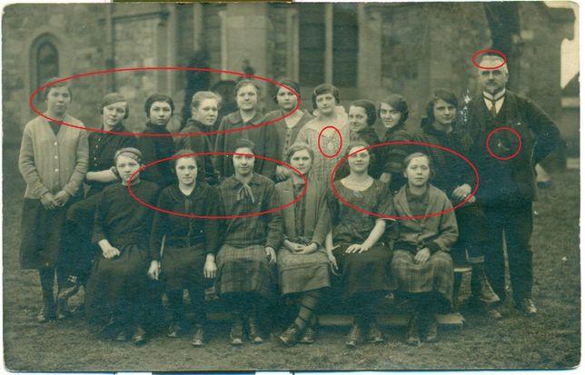 Schilling Rochlitz Szkoła nauczyciel lata 20-te 30-te? Pocztówka Post