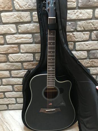 Gitara KEPMA czarny mat w stanie bardzo dobrym! + Pokrowiec i dodatki!