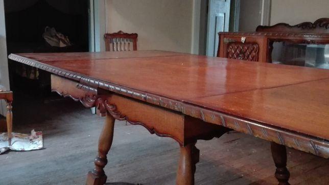 Mesa de sala extensível, vintage