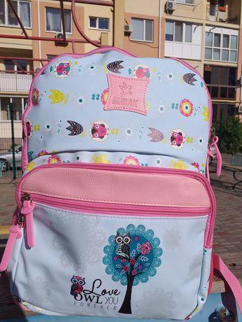 Рюкзак для средних классов для девочки школьницы бирюзовый
