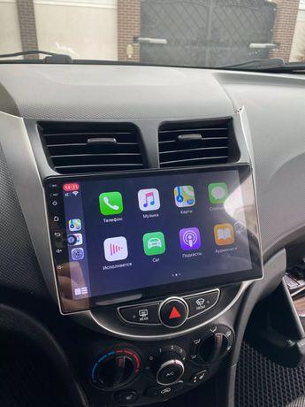 Hyundai Solaris Accent 2010 - 2016 radio wyświetlacz android + carplay