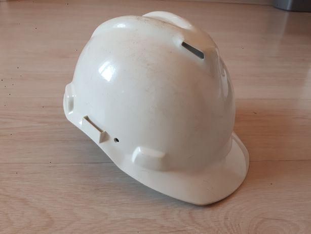 Kask BHP na budowę biały ochronny