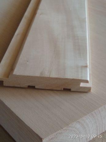 Вагонка деревянная из ольхи и липы, для бани, сауны от производителя