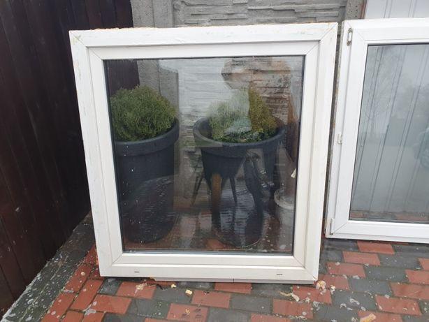 Okno PCV Plastikowe 134cm Szerokie Na 124cm Wysokie i 124cm/115