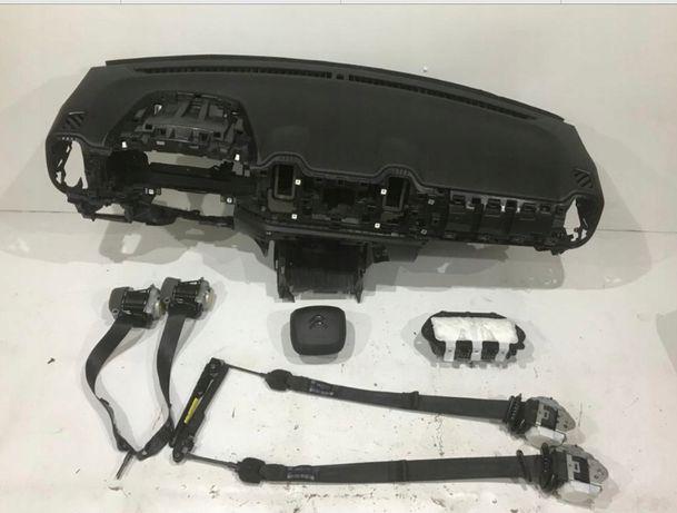 Citroen C5 tablier airbags cintos