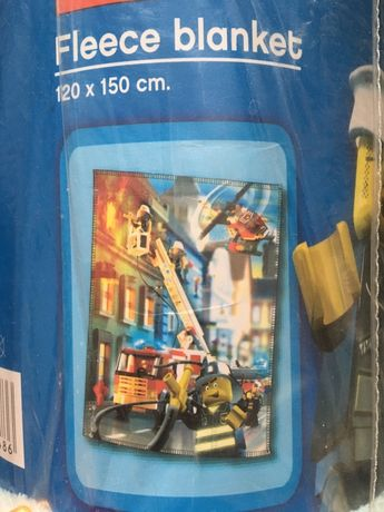 Kocyk lego city 120x150