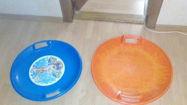 Санки ледянка 60-66 см в диаметре, санки ледянки для детей/подростков