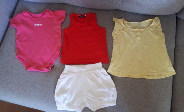 Zestaw ubranek rozmiar 86 – body koszulki spodenki