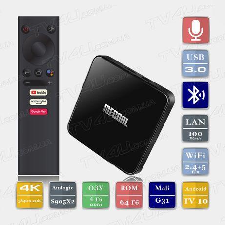 Mecool KM3 4/64 Android 10 Smart TV Box ТВ Приставка X96 X3 H96 X92 Mi