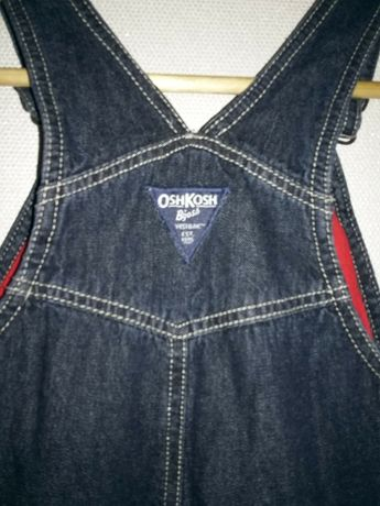 Брюки-комбинезон джинсовые