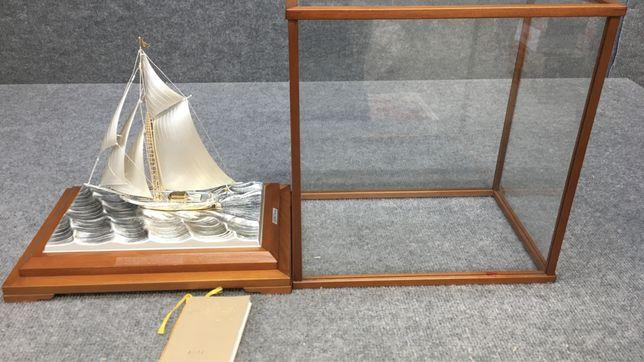 Яхта серебряная, серебро 985, окимоно