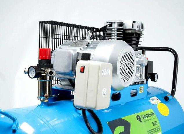 Compressor de Ar Elétrico, 200L, 4HP Trifásico - SAURIUM®