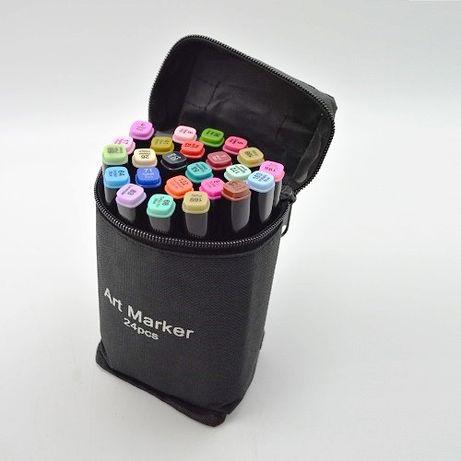 24 цвета! Набор двусторонних маркеров Touch для рисования и скетчинга