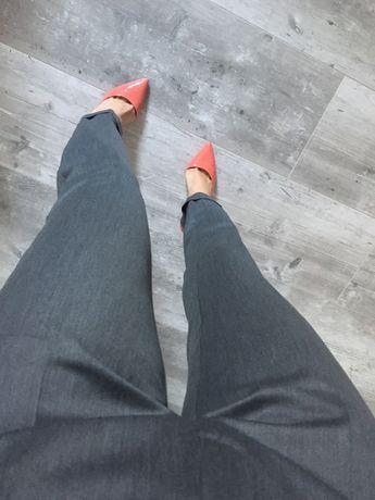Spodnie cygaretki szare eleganckie 36 nowe okazja