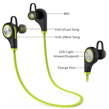 Headphones, fones desporto, Bluetooth,corrida, caminhada, BTT,ciclismo