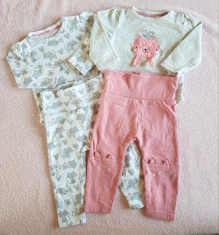 Komplet 2x body i 2x leginsy Baby Club (C&A) roz. 68