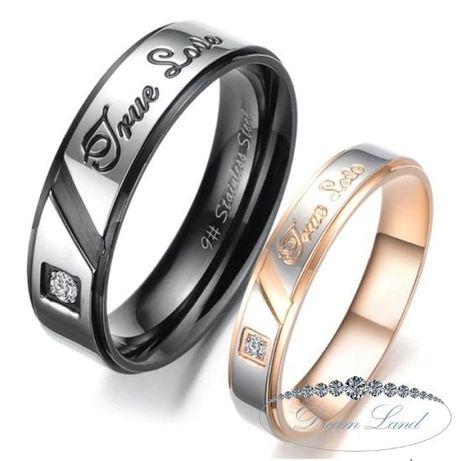 Парные кольца, кольцо для влюбленных из нержавеющей медицинской стали
