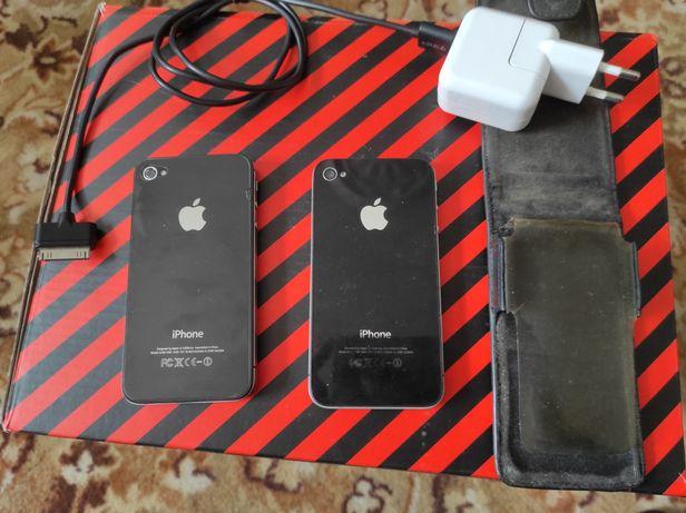 Два мобильных телефона  iPhone 4s