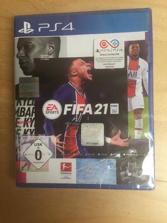 Gra Fifa 21 PS4 (również dostępna na PS5) Nowa zafoliowana