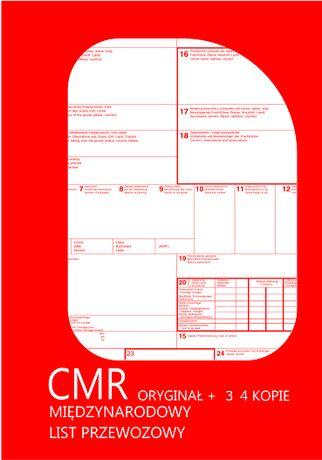CMR- numerowany numerowane - 80 kartek 1+3, 1+4