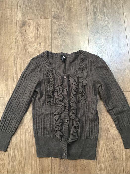 Sweterek falbanka elegancki H&M XS 34 Rzeszów - image 1