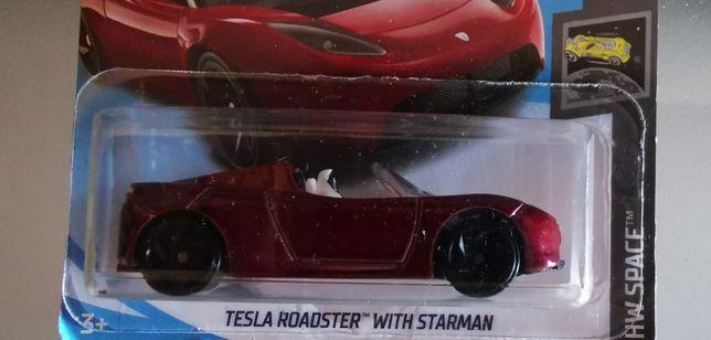 Tesla roadster hotwheels novo com portes incluídos
