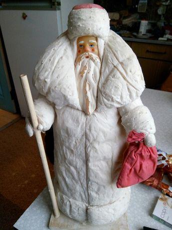 Дед Мороз ватный антиквариат